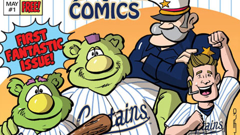 The Captains will give away their first-ever comic book on Saturday, May 1.
