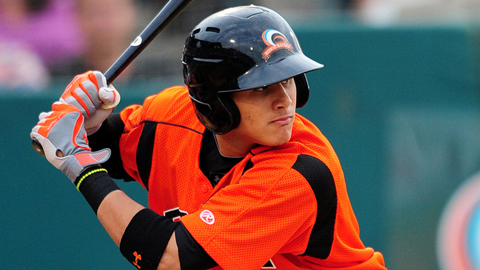 Manny Machado hit for the cycle on Saturday for Double-A Bowie.